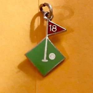 "Jewelry - STERLING SILVER ""18TH HOLE"" CHARM"